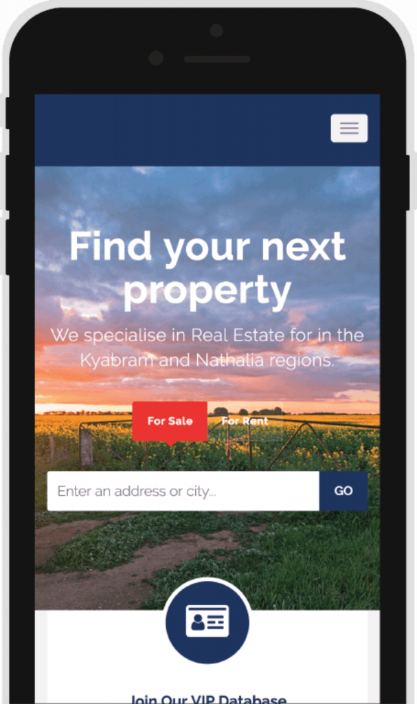 Real estate Mobile Friendly website